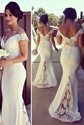 SELENE | Mermaid Off-shoulder Sweetheart Sheer Lace Appliques Prom Dresses_2