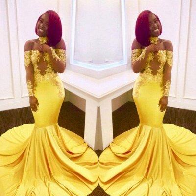 Платье выпускного вечера с открытыми плечами, длинные вечерние платья русалки BA7903_5