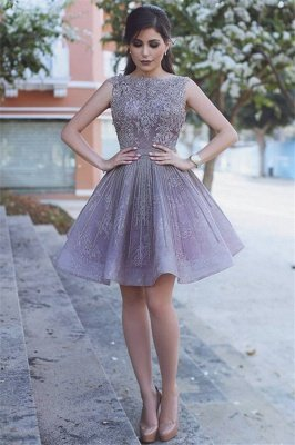 Lace Appliques Open Back Sexy Homecoming Dresses Short Hoco Dresses Online_4