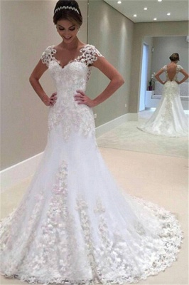Gorgeous Mermaid Lace Long Wedding Dress_2