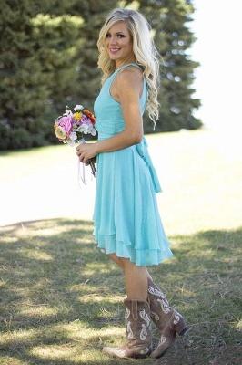 Kurze Brautjungfernkleider Neckholder | Chiffon Kleid Brautjungfer Mit Spitze_5