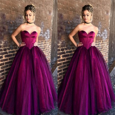 Gorgeous Sweetheart Long Princess Evening Dress Tulle Long Party Gowns BA9865_3