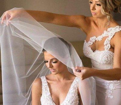 Robes de demoiselle d'honneur élégante sirène | Une épaule dentelle longues robes de soirée de mariage_5