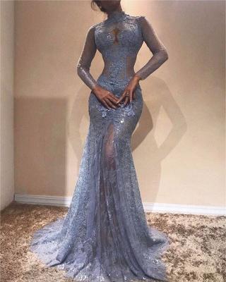 Великолепное платье с кружевным кружевным вышивкой | Платье выпускного вечера с длинным рукавом_1