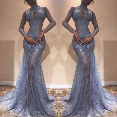 Великолепное платье с кружевным кружевным вышивкой | Платье выпускного вечера с длинным рукавом_3