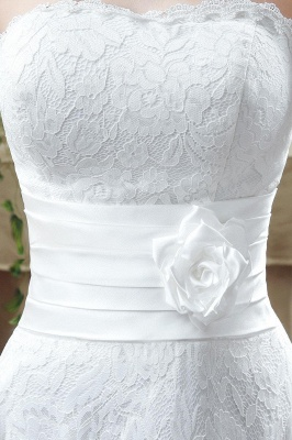 Elegant Sweetheart Lace Wedding Dress Ankle Length Empire Bridal Gown_6