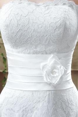 Elegantes Schatz-Spitze-Hochzeits-Kleid-Knöchel-Längen-Reich Brautkleid CPS240_6