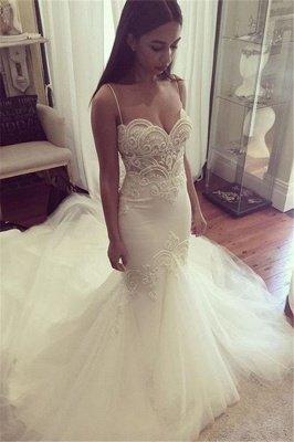 Robe de mariée chérie à fines bretelles Robe de mariée en tulle à bretelles d'été_3