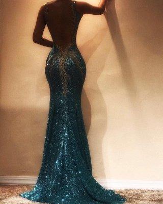 Robe de soirée sans manches en paillettes glamour | Robe de bal sirène en vente BA9598_3