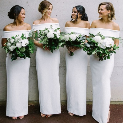 Off The Shoulder Sexy Bridesmaid Dresses | Sheath Elegant Wedding Party Dresses for Bridesmaid_4