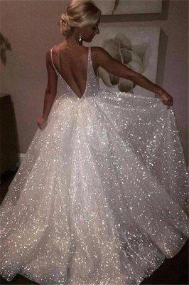 Bling aberto de volta vestidos de baile sem mangas   A linha de vestidos de noite brilhantes_2