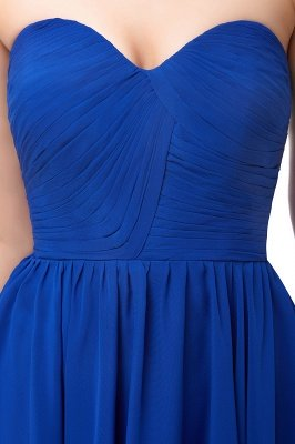 NETTIE | Aline Short Sweetheart Strapless Chiffon Blue Homecoming Dresses_9