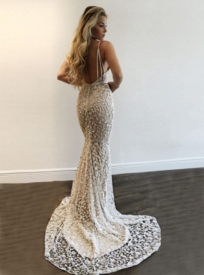 Gorgeous V-Neck Prom Dress | Lace Mermaid Evening Gowns BA9393_3