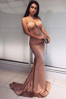 Elegantes V-Neck Meerjungfrau Abendkleid | langes Abendkleid_1