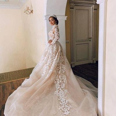 Luxury Sweetheart Lace Tulle Mermaid Spring Wedding Dress_3