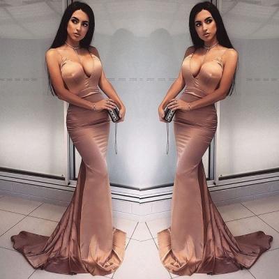 Elegantes V-Neck Meerjungfrau Abendkleid | langes Abendkleid_3