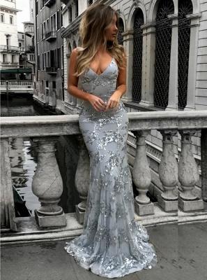 SAGE | Sirena con cuello en v espaguetis hasta el suelo cuentas de cristal de baile vestidos_15