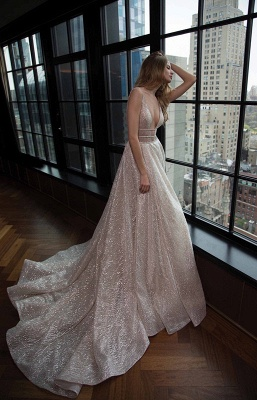 Sexy V-Neck Sleeveless Prom Dress Long Sequins BA3399_2