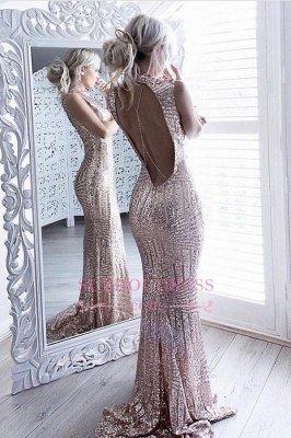 Sequins Robe De Soirée Etincelante Etincelante Sexy Robe De Soirée Etage Sexy Sans manches À Encolure Dégagée JJ0158
