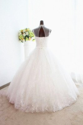White High Collar Popular Bridal Dresses Lace Sexy Lace-Up Popular Ball Gowns Bridal Dresses_2